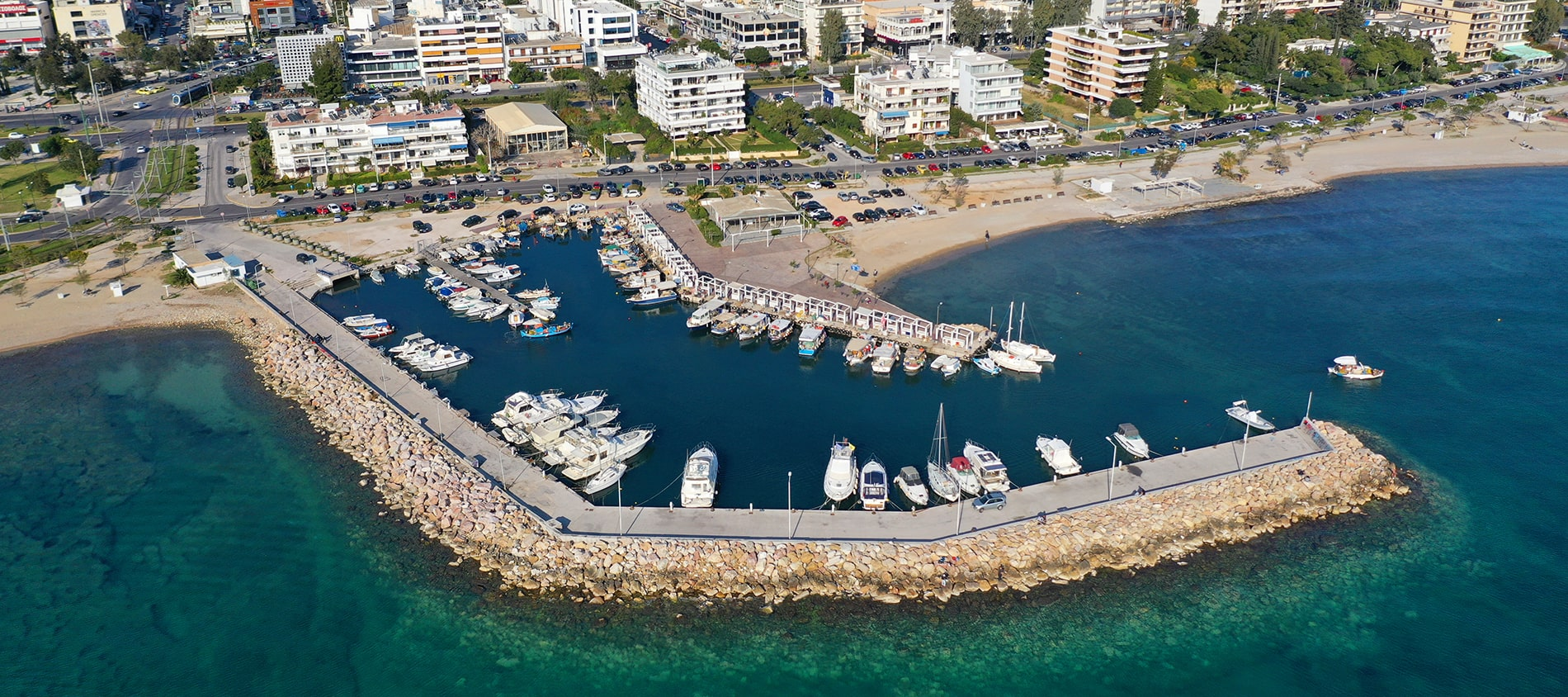 Glyfada Greece Aerial photo