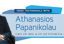 Photo of Testimonial Videos: Athanasios Papanikolau, CEO of MIG & VP of Vivartia Group