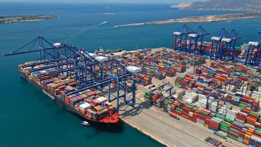 The Port of Piraeus is the leading port in the Mediterranean